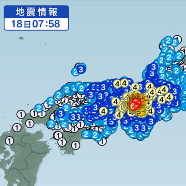 2018年6月18日 大阪北部地震 直後から正午の様子